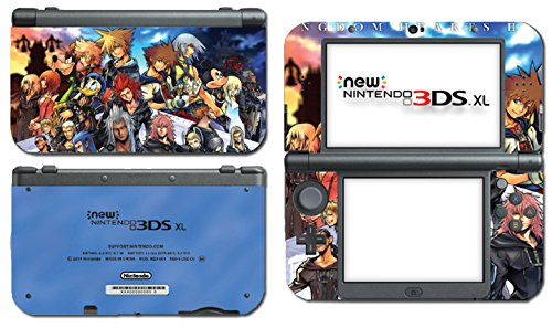 Kingdom Hearts Mickey 3D Dream Drop Distance Video Game Vinyl Decal Skin Sticker Cover for the New Nintendo 3DS XL LL 2015 System Console