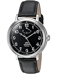 Orient Mens Monarch Mechanical Hand Wind Stainless Steel and Leather Dress Watch, Color:Black (Model: FDD03002B0)