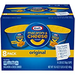 It's hard to improve upon a classic. Take a taste of familiarity wherever you go with Kraft Easy Mac Original Flavor Macaroni & Cheese cups. They're conveniently packaged as individual servings so you'll never cook up more than you can ea...
