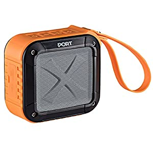 Waterproof, Portable Bluetooth 4.0 Speaker By PORT | Rechargable, Wireless, Powerful 5W Audio Driver, Compatible With All Bluetooth Devices | Marine Speaker System for iPhone, Android, iPod, iPad