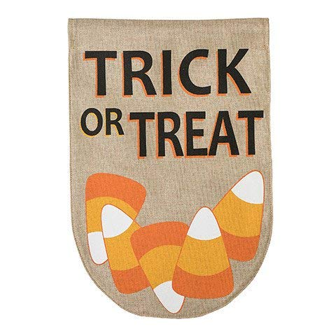 Trick or Treat Halloween Candy Corn Garden Flag: Double Sided - 12 x 18 inches ()