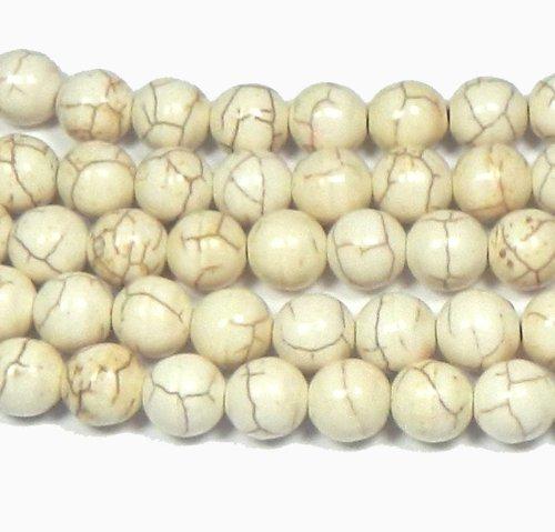 Poweka Magnesite  Gemstone Round Beads Approx Loose Strand Semi Precious Stone (Semi Precious Magnesite)