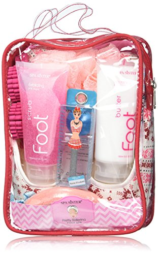 Bath Accessories Pretty Ballerina Foot Spa Set Flat Slippers, Pink Sugar by Bath Accessories