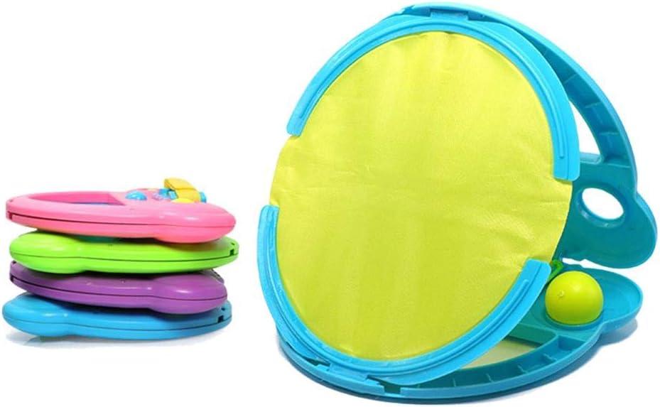 Paddle Catch Ball Set Juego de Tirar Y Catch Ball, Juegos de Raqueta Deportiva Toy para Niños Adolescentes Adultos Actividades Al Aire Libre En El Interior