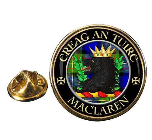 Maclaren Scottish Clan Crest Lapel Pin Badge with Gift -