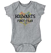 Brisco Brands Hogwarts First Year Cool Shirt Funny Gift Harry Potter Baby Romper Bodysuit