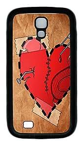 Samsung Galaxy S4 Case,Customize Ultra Slim Broken Heart Soft Rubber TPU Black Case Bumper Cover for S4