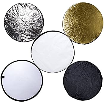 """5-in-1 24"""" (60cm) Portable Multi-disc Collapsible Photography Photo Reflector"""