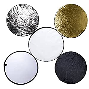 "5-in-1 24"" (60cm) Portable Multi-disc Collapsible Photography Photo Reflector"