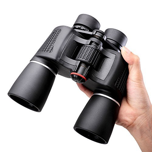 NOCOEX 10x50 Super High-Powered Porro Prism Binoculars - for Bird Watching and Hunting - Black Color [並行輸入品] B01N7O5OHV