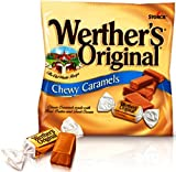 Werther's Original Chewy Caramel Candy Peg Bag, 2.4 oz / 12 pack