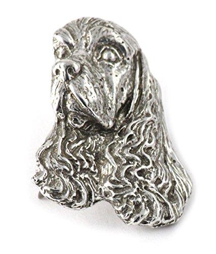 - American Cocker Spaniel Dog Pewter Lapel Pin, Brooch, Jewelry, D008