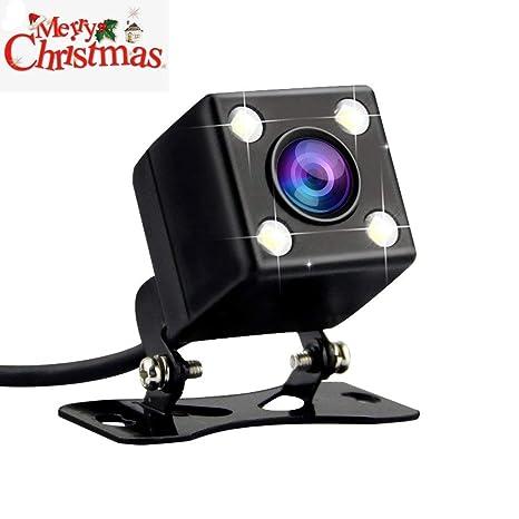 AZDOME Cámara de Visión Trasera para Coche con 120° Ángulo de Visión 640 x 480 Píxeles y 4 LED,IPX67 Impermeable, Cámara Trasera para Dashcam GS63H: ...