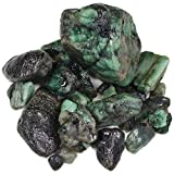 1 lb Bulk Emerald Rough from Brazil - Natural Raw Stones & Fountain Rocks for Tumbling, Cabbing, Polishing, Wire Wrapping, Wicca & Reiki Crystal Healing