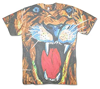Big Sean Lion All Over Front Print White T Shirt