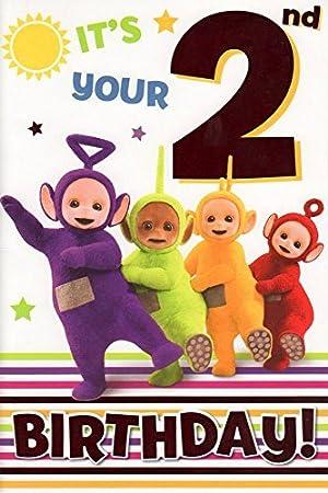 Teletubbies Age 2 Birthday Card Amazon Toys Games