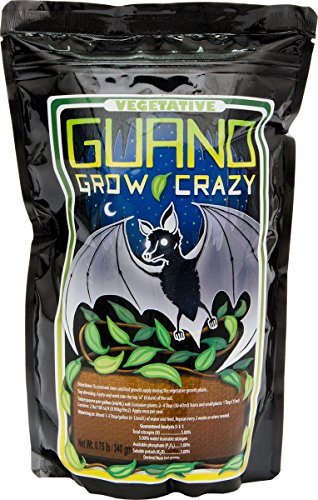 Hydrofarm BGC1001 Vegetative  Guano Grow Crazy 5-1-1, 0.75Lb Bag