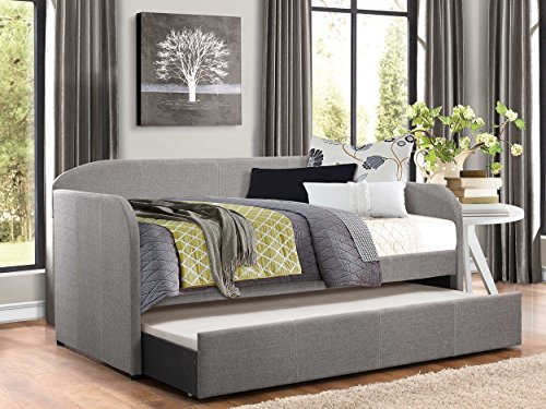 Charming Amazon.com: Homelegance Modern Design Daybed With Trundle Fully Upholstered  Polyester, Twin, Grey: Kitchen U0026 Dining