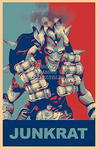 CGC Huge Poster - Overwatch Junkrat PS4 XBOX ONE PC - EXT664