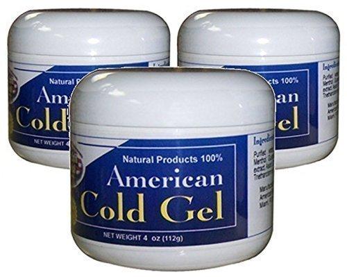 American Natural Cold Gel 3 PACK 4 oz Excessive Body Fat Burner Reducer