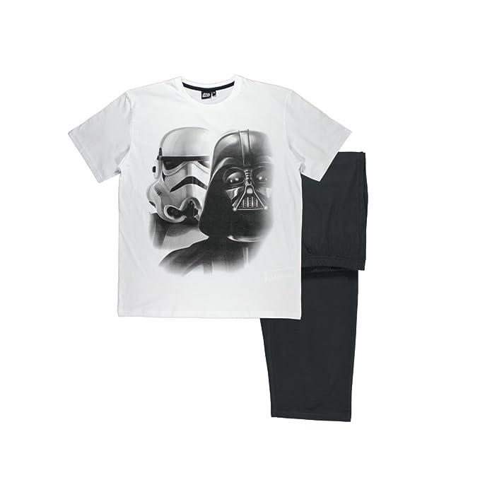 Star Wars-The Clone Wars Darth Vader Jedi Yoda Hombres Pijama mangas cortas Negro