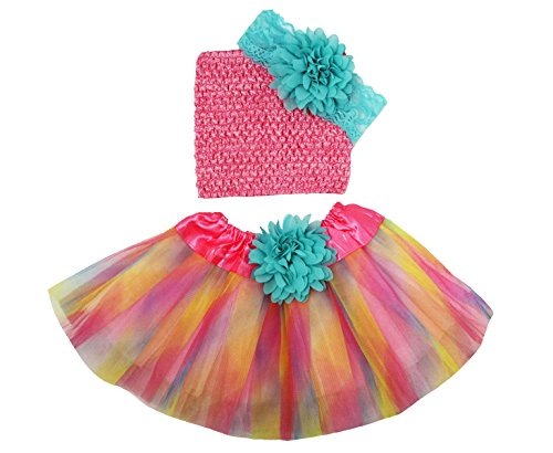 Wholesale Princess Tutu Gift Set Aqua and Rainbow 0-12 months (Baby Gift Wholesale)