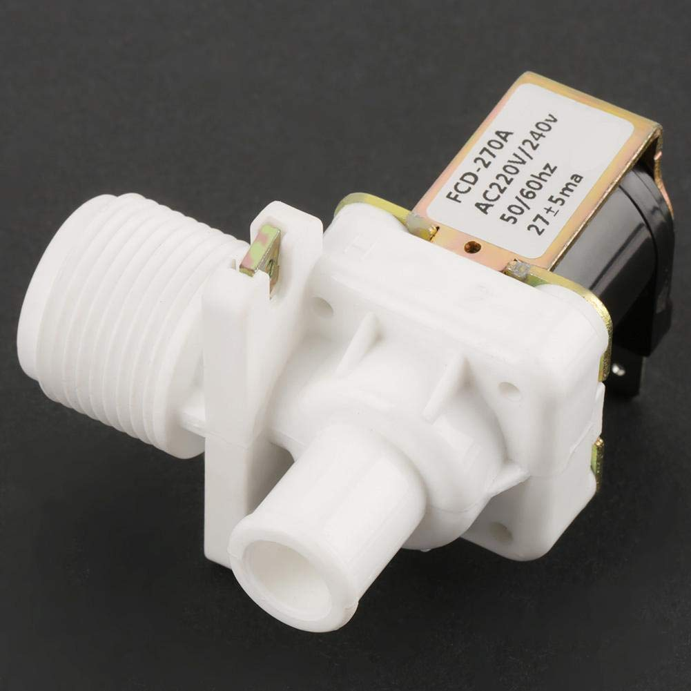 """3//4/"""" Solenoid Valve,FCD270A AC 220V//240V 0.02-0.8Mpa Water Inlet Electric Solenoid Valve Washing Machine,Male Thread Connector Control Water Flow"""