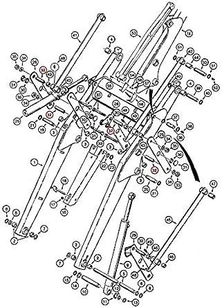 Amazon Com D132076 Tilt Linkage Spacer Bushing Made For Case Ih