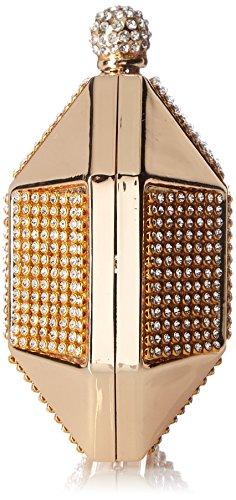 Clutch Rhinestone Bridal Cocktail Evening Bag Hard Chicastic Octagon Bridesmaid Gold Wedding Stud Box F4wTcyqX