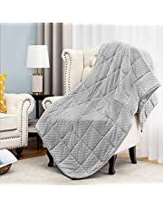 Angelhood Weighted Blanket,Minky Weighted Blanket Warm Luxury,Heavy Weighted Blanket with Premium Glass Beads,100% Oeko-Tex Certified