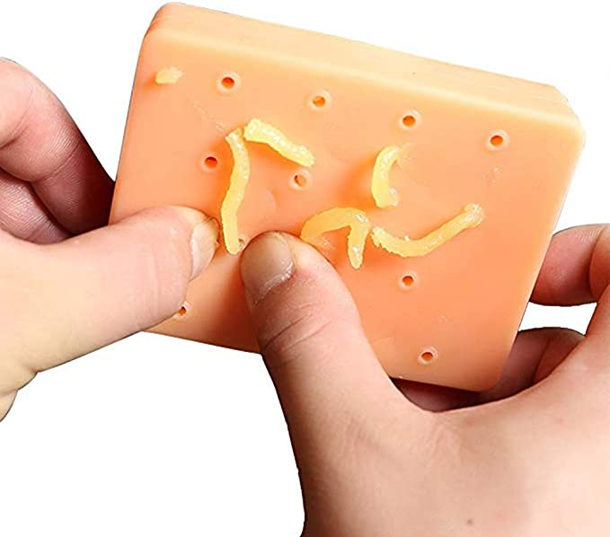 Funny Toy Simulated Acne Squeeze Pimple Nose Stress Relief E0G0
