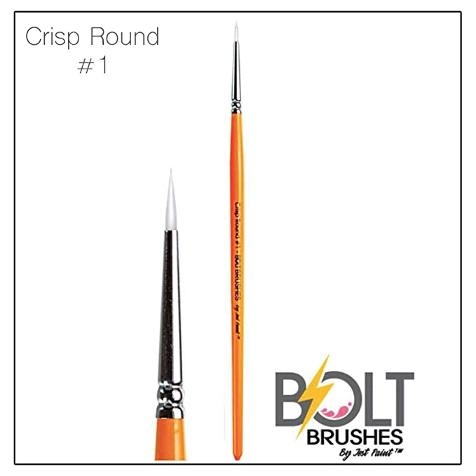 more photos ae46c 85aac BOLT Face Paint Brush by Jest Paint - Crisp Round #1: Amazon ...