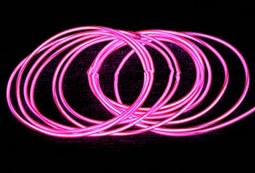 GOWE Flexible Neon Light EL Wire Rope Tube 100M With 8 colors Option pink,2.3mm 3