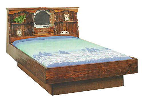 Pine Waterbeds (Strobel Organic Fargo Complete Waterbed Premium Solid White Pine Unfinished Queen)