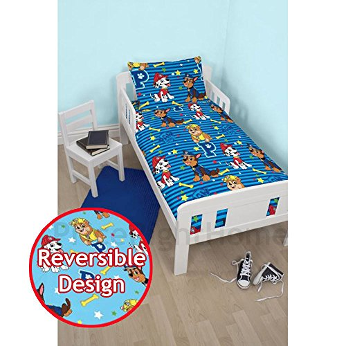 - PAW PATROL Hero Junior Reversible Bed Duvet Set Fits Toddler , Junior & Cot Bed