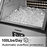 Euhomy Commercial Ice Maker Machine, 100lbs/24h