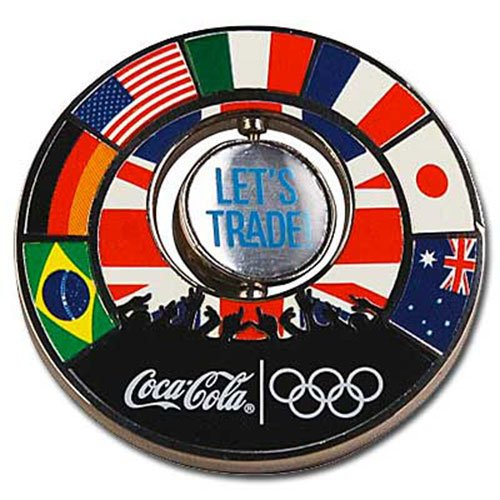 London Olympic Coca-Cola Pin - Pin Trading Let's Trade Spinner