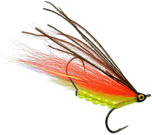 PEETZ Outdoors Lion's Head 4-Inch Pro Grade McFly Fly Fishing Lure | Deceiver Streamer Bucktail Clouser Wet Freshwater Saltwater | Pike Bass Perch Walleye Salmon Trout Dorado Tarpin Bonefish (Pike Streamer)