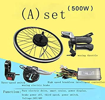 GZFTM Kit de Bicicleta eléctrica 500W36V / 48V Kit de Bicicleta ...
