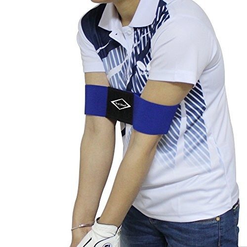 (Scott Edward Pro Golf Swing Arm Band Training Aid for Golf Beginners, Blue)