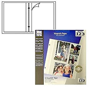 Holson/Burnes® EasyStik® Magnetic post-bound album refill pages Our price is for 2 units - 8x10