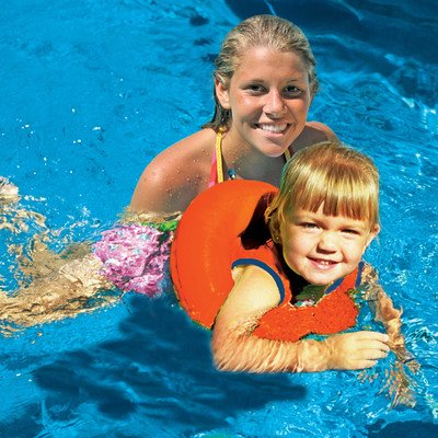 Poolmaster Orange Learn-to-Swim Tube Trainer