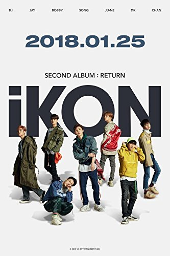 iKON - [Return]2nd Album Red Ver CD+PhotoBook+Post+PhotoCard+Sticker+etc  K-POP