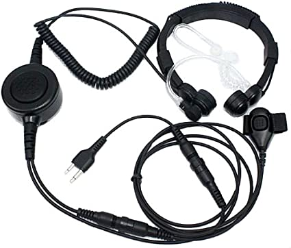 Coil tube Throat Mic for Midland GXT500 radio