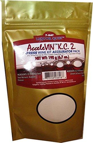 (Liquor Quik AcceleVIN K.C.2. 190g X-Press Wine Kit Accelerator Pack (Gold))