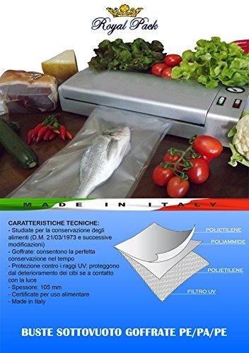 ROYAL PACK Buste e sacchetti per sottovuoto goffrati per alimenti 30x40 confezione da 50 sacchetti ELCA SRL