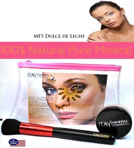 Itay Mineral cosméticos luminoso, brillante, perfecto acabado viajes tamaño 2,5 G Fundación en MF5 dulce de leche + polvo cepillo + avión viajes cosméticos ...