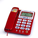 Fixed Telephone Home Elderly Landline Office Night Light Big Button Big Ringtone LCD