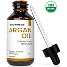 Truly Pure Oil Organic Oil Moroccan Argan Oils, 100% Natural Argon, Cold Pressed, Eco & USDA Certified For Skin Care, Nails, Face, Hair Loss, Dry Lips, Body, Anti Aging-Anti Wrinkle Beauty Secret(2oz)