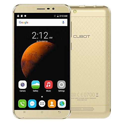 "Cubot Dinosaur 5,5 ""HD IPS-Schirm Smartphone 4G FDD-LTE 1280 * 720 Pixel 64Bit MT6735A Quad-Core 1,3 GHz 3 GB + 16GB Handy Android 6.0 13.0MP 4150 mAh Batterie Dual-SIM-Handy"